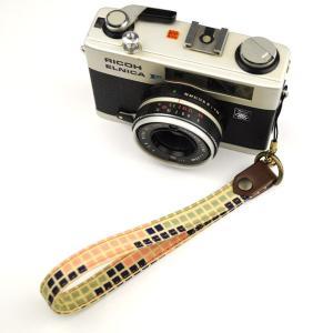 【和柄カメラハンドストラップ!】【6ブロック】アンティーク着物の柄がレトロな和柄カメラストラップ!|studio-ichi