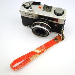 【和柄カメラハンドストラップ!】【10桜絞】アンティーク着物の柄がレトロな和柄カメラストラップ!|studio-ichi