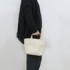 1号帆布 トートバッグ Sサイズ 横長 canvas キャンバス 極厚 ヌメ革 シンプル 綿 コットン 名入れ 刻印|studio-ichi|05