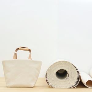 1号帆布 トートバッグ Sサイズ 横長 canvas キャンバス 極厚 ヌメ革 シンプル 綿 コットン 名入れ 刻印|studio-ichi|06