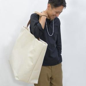 1号帆布 トートバッグ LLサイズ 横長 canvas キャンバス 極厚 ヌメ革 シンプル 綿 コットン 名入れ 刻印|studio-ichi|04