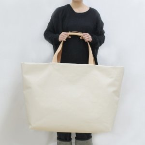 1号帆布 トートバッグ LLサイズ 横長 canvas キャンバス 極厚 ヌメ革 シンプル 綿 コットン 名入れ 刻印|studio-ichi|05