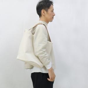 1号帆布 バケット 2WAY 鞄 ショルダーバッグ トートバッグ 円柱 canvas キャンバス 極厚 ヌメ革 シンプル 綿 コットン 名入れ 刻印|studio-ichi|04