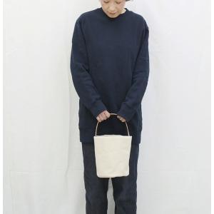 1号帆布 バケット 2WAY 鞄 ショルダーバッグ トートバッグ Sサイズ 円柱 canvas キャンバス 極厚 ヌメ革 シンプル 綿 コットン 名入れ 刻印|studio-ichi|04