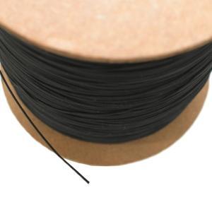 携帯ストラップ ナイロン コード 紐 ナイロン芯入り 0.8mm 松葉紐 黒 ストラップ 丸紐 1m巻|studio-ichi|03