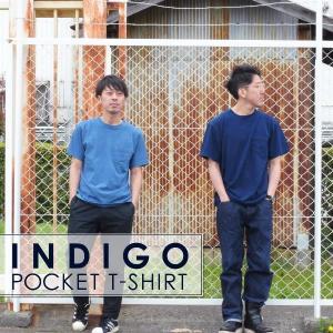 ポケットTシャツ インディゴ 半袖 Tシャツ ポケット付 デニム ウォッシュ メンズ|studio-ichi