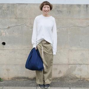 インディゴ コットン リネン キャンバス ふろしき トートバッグ 綿 麻 帆布 まんまる 可愛い|studio-ichi|02