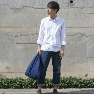 インディゴ コットン リネン キャンバス ふろしき トートバッグ 綿 麻 帆布 まんまる 可愛い|studio-ichi|04