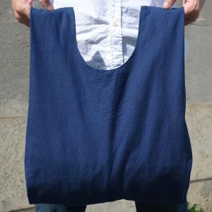 インディゴ コットン リネン キャンバス ふろしき トートバッグ 綿 麻 帆布 まんまる 可愛い|studio-ichi|06