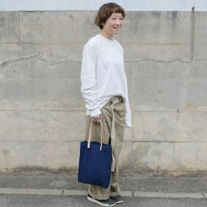 インディゴ コットン リネン レザー キャンバス A4 トートバッグ 綿 麻 帆布|studio-ichi|03