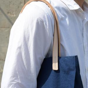 インディゴ コットン リネン レザー キャンバス A4 トートバッグ 綿 麻 帆布|studio-ichi|05