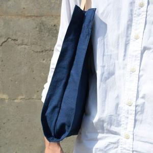 インディゴ コットン リネン レザー キャンバス A4 トートバッグ 綿 麻 帆布|studio-ichi|06