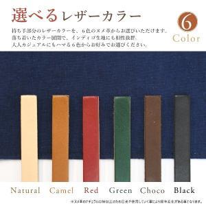 インディゴ コットン リネン レザー キャンバス A4 トートバッグ 綿 麻 帆布|studio-ichi|09
