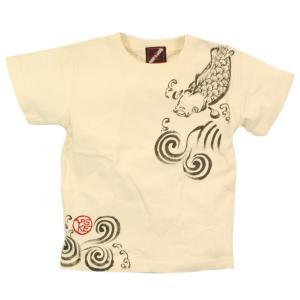 SALE Tシャツ 半袖 和柄 鯉 手描き 出産祝い 子供服|studio-ichi|05