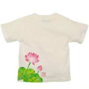 SALE Tシャツ 半袖 和柄 蓮 手描き 出産祝い 子供服|studio-ichi|02
