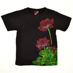 SALE Tシャツ 半袖 和柄 蓮 手描き 出産祝い 子供服|studio-ichi|03