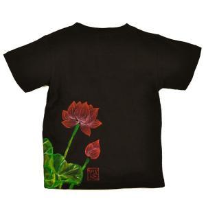SALE Tシャツ 半袖 和柄 蓮 手描き 出産祝い 子供服|studio-ichi|04