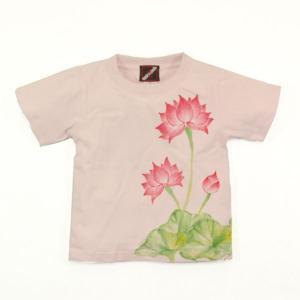 SALE Tシャツ 半袖 和柄 蓮 手描き 出産祝い 子供服|studio-ichi|05