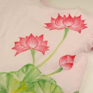 SALE Tシャツ 半袖 和柄 蓮 手描き 出産祝い 子供服|studio-ichi|06