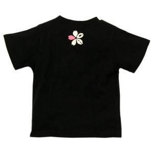 SALE Tシャツ 半袖 和柄 ネクタイ 桜 手描き 出産祝い 子供服|studio-ichi|04