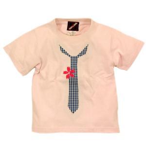 SALE Tシャツ 半袖 和柄 ネクタイ 桜 手描き 出産祝い 子供服|studio-ichi|05