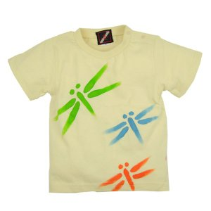 SALE Tシャツ 半袖 和柄 レトロ とんぼ 手描き 出産祝い 子供服|studio-ichi