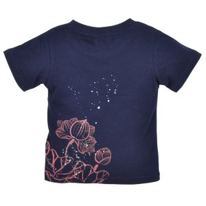 SALE Tシャツ 半袖 和柄 抜染 蓮 手描き 出産祝い 子供服|studio-ichi|02