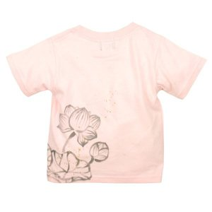 SALE Tシャツ 半袖 和柄 抜染 蓮 手描き 出産祝い 子供服|studio-ichi|04