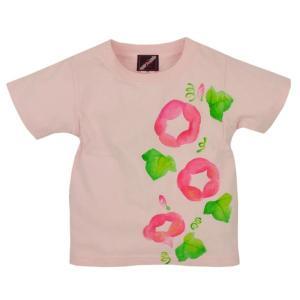 SALE Tシャツ 半袖 和柄 朝顔 手描き 出産祝い 子供服|studio-ichi
