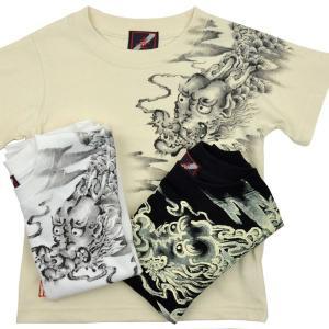 SALE Tシャツ 半袖 和柄 龍 手描き 出産祝い 子供服|studio-ichi