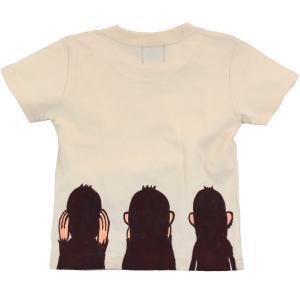 SALE Tシャツ 半袖 和柄  お猿 手描き 出産祝い 子供服|studio-ichi|02