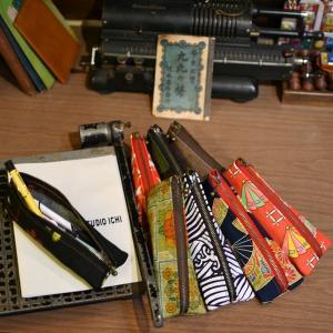 着物 和柄 ペンケース 三角 立体的 可愛い 筆箱 ギフト 和風 お土産 8柄|studio-ichi|05