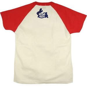 SALE ラグランTシャツ レディース 半袖 手描き 干支兎柄|studio-ichi|02