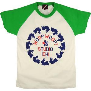 SALE ラグランTシャツ レディース 半袖 手描き 干支兎柄|studio-ichi|04