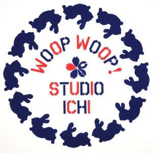 SALE ラグランTシャツ レディース 半袖 手描き 干支兎柄|studio-ichi|05