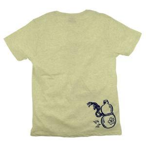 SALE Tシャツ 鯰瓢箪 アメカジ M オートミール グリーン ブルー|studio-ichi|02