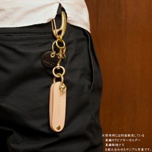 ヌメ革 ルーム キーケース キーホルダー メッセージ 名入れ 刻印付き|studio-ichi|06