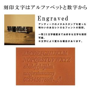 メッセージ刻印付き 小桜柄 ヌメ革 カメラハンドストラップ|studio-ichi|03