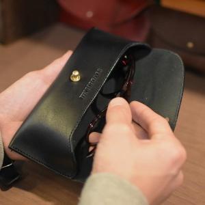 名入れ ヌメ革 メガネケース めがね レザー プレゼント ギフト 刻印付き 老眼鏡ケース|studio-ichi|06