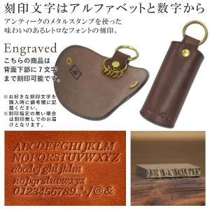 名入れ 刻印付き ヌメ革 キーケース 春巻き 真鍮 キーリング シンプル プレゼント ギフト|studio-ichi|04