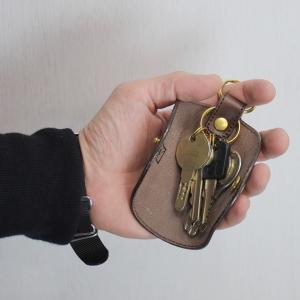 名入れ 刻印付き ヌメ革 キーケース 春巻き 真鍮 キーリング シンプル プレゼント ギフト|studio-ichi|05