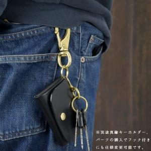 名入れ 刻印付き ヌメ革 5連 キーケース レザー メッセージ 真鍮 プレゼント ギフト|studio-ichi|06