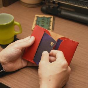 名入れ 刻印付き ヌメ革 名刺ケース カードケース メッセージ|studio-ichi|05