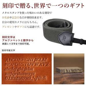名入れ 刻印付 ヴィンテージ  カメラストラップ ヌメ革 コットン 綿 ベルト 3サイズ セミオーダー オーダーメイド プレゼント ギフト|studio-ichi|05
