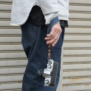 名入れ ヴィンテージ  ハンドカメラストラップ ヌメ革 コットン 綿 3サイズ セミオーダー オーダーメイド 刻印付|studio-ichi|06