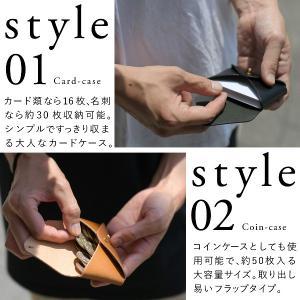 名入れ ヌメ革  カードケース 大容量 名刺ケース ギボシ 刻印付き メッセージ レザー コインケース プレゼント ギフト|studio-ichi|05