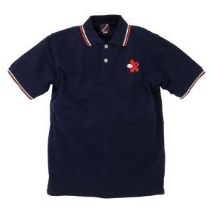 ポロシャツ 半袖 和柄 刺繍 壱桜 ラインポロシャツ メンズ|studio-ichi