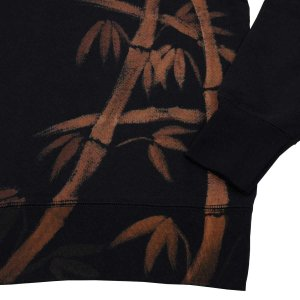 SALE 和柄 クールネックスウェット 手描き竹柄 トレーナー|studio-ichi|03