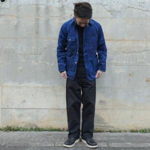 藍染め カバーオール ツイル 琉球藍染め メンズ 羽織 男性|studio-ichi|02