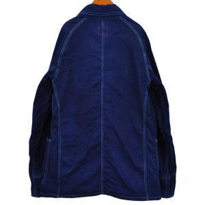 藍染め カバーオール ツイル 琉球藍染め メンズ 羽織 男性|studio-ichi|04